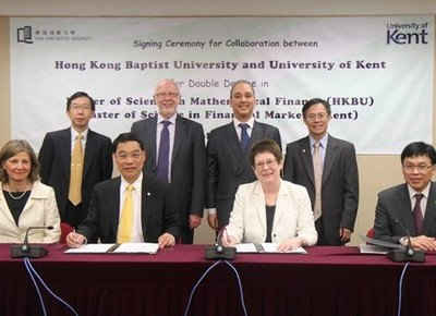 HKBU and University of Kent jointly launch double Master of Science in Mathematical Finance and Financial Markets