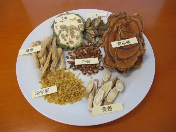 Chinese medicine herbs commonly used for the treatment of coronary artery stenosis