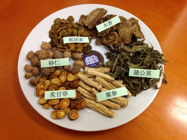 Chinese medicine herbs commonly used for the treatment of chronic gastritis