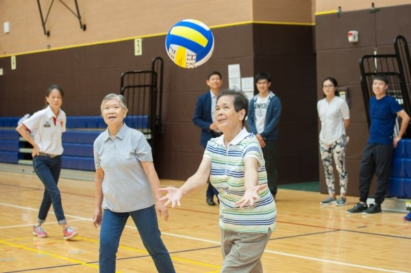 The level of fitness required for light volleyball and the speed of the sport make it suitable for older adults
