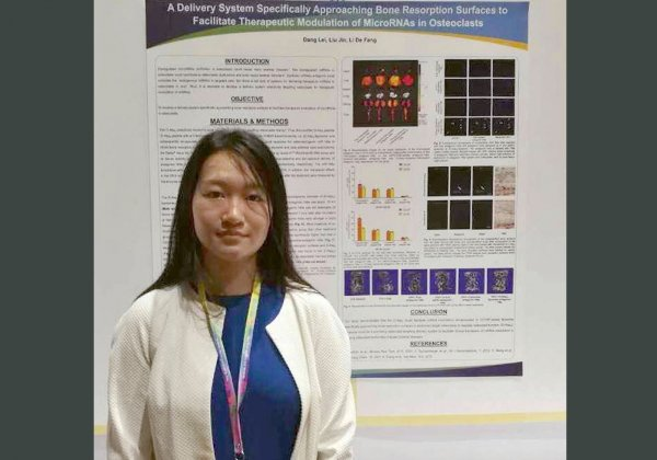 "Dang Lei wins the first runner-up prize in the ""Challenge Cup"" National Competition – Hong Kong Regional Final for her outstanding research project"