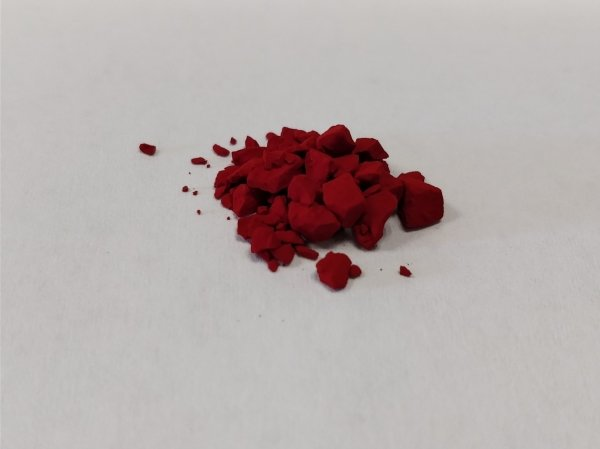 The reddish powder is the cyanine compound