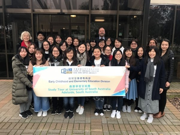 HKBU students attend lectures at the University of South Australia