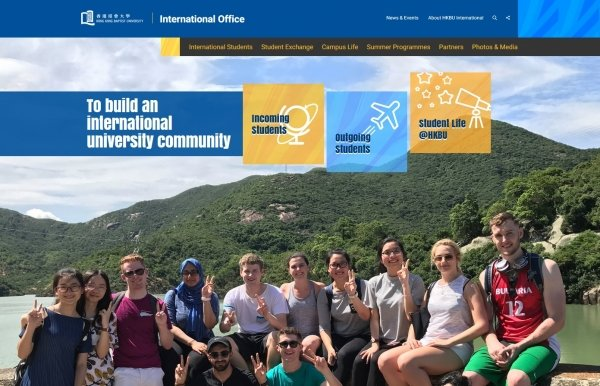 The International Office's website