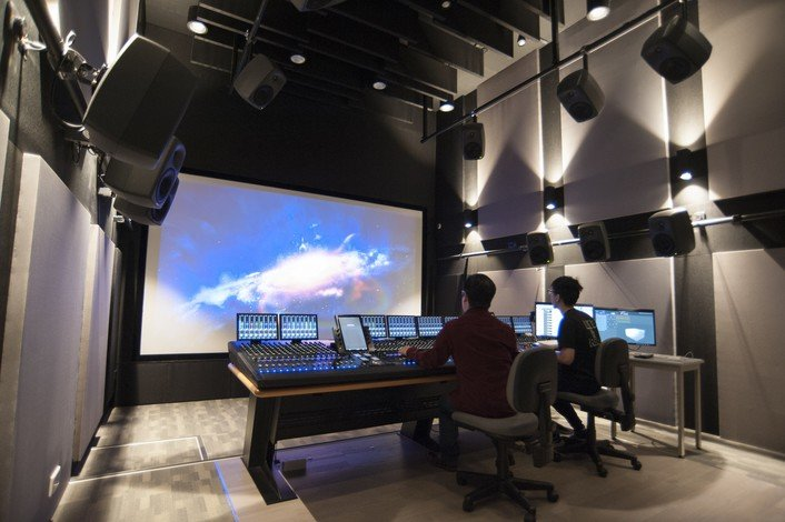The Dolby Atmos Sound studio can help students significantly enhance the sound impact of their works.
