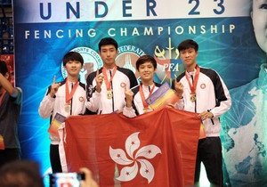 Physical Education student wins gold medal in Asian fencing competition