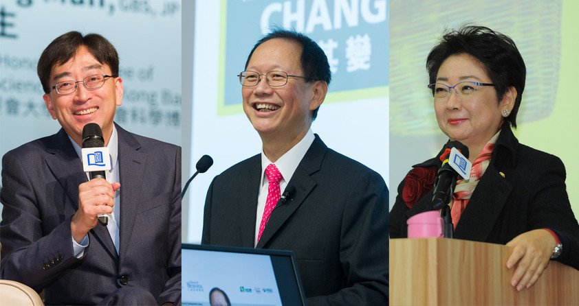 (From left) Dr Ko Wing-man, Dr Philip Chen and Dr Doreen Chan