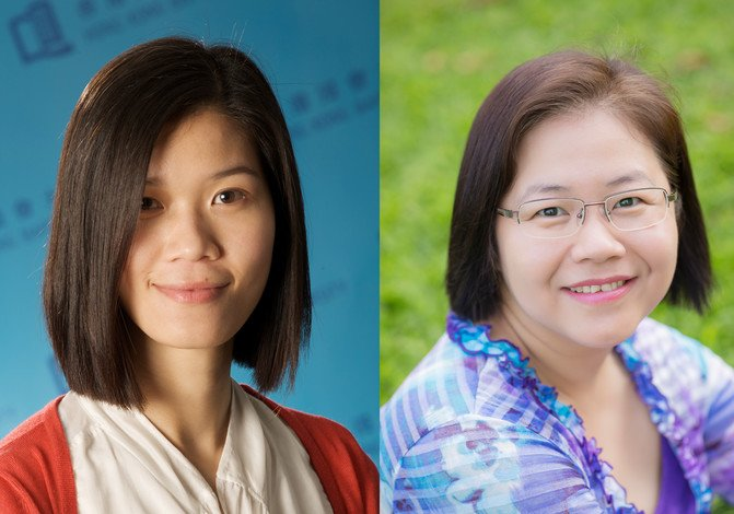Dr Leung Ka-man (left) and Dr Pan Jiayan receive grants from the RGC for their research projects.