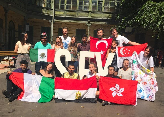 Marcus travelled to Hungary during the summer vacation in Year 3 with other volunteers from 10 different countries to jointly take part in a voluntary teaching programme with AIESEC.