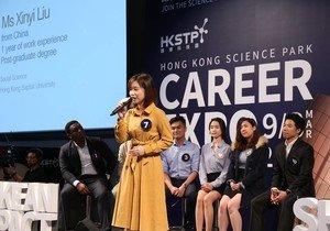 Two HKBU students win awards at 60-second Talent Pitch contest