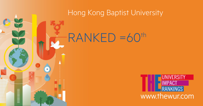 HKBU ranks 60th in the global University Impact Rankings
