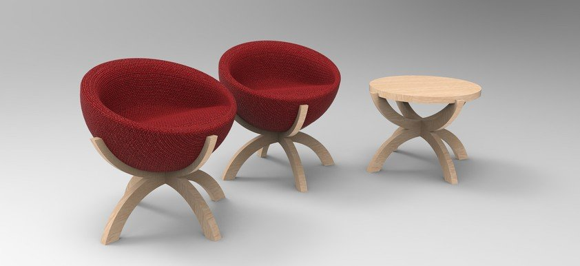 "The ""OH Furniture Collection"" enables a flexibility to turn a chair into a table easily"