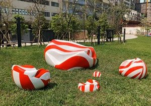 Artwork created by Visual Arts student installed at public playground