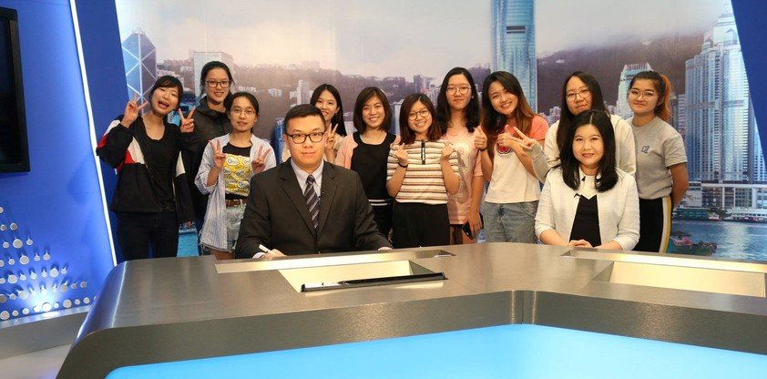 International Journalism students were involved in hosting the Global News Relay.