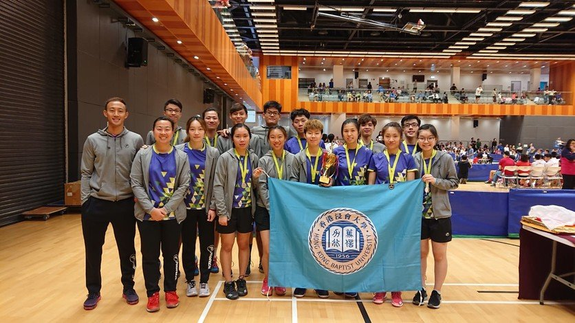 The HKBU team won the first runner-up prize at the Annual Badminton Championships.