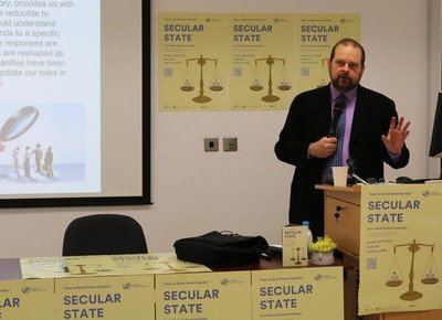 Renowned scholar examines secular state in public lecture