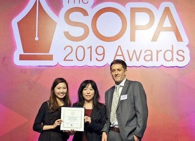 Journalism alumni shine at the SOPA 2019 Awards