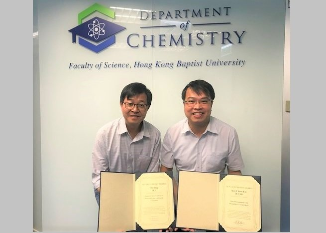 (From left) Dr Lee Chi-sing and Dr Ken Leung, Associate Professors from the Department of Chemistry.