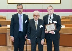 HKBU presents Cheung On Tak International Award for Outstanding Contribution to Chinese Medicine to German Chinese medicine scholar Professor Gerhard Franz