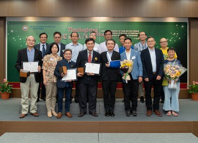 HKBU presents Long Service Awards and Professor Emeritus titles at Founders' Day Thanksgiving Service