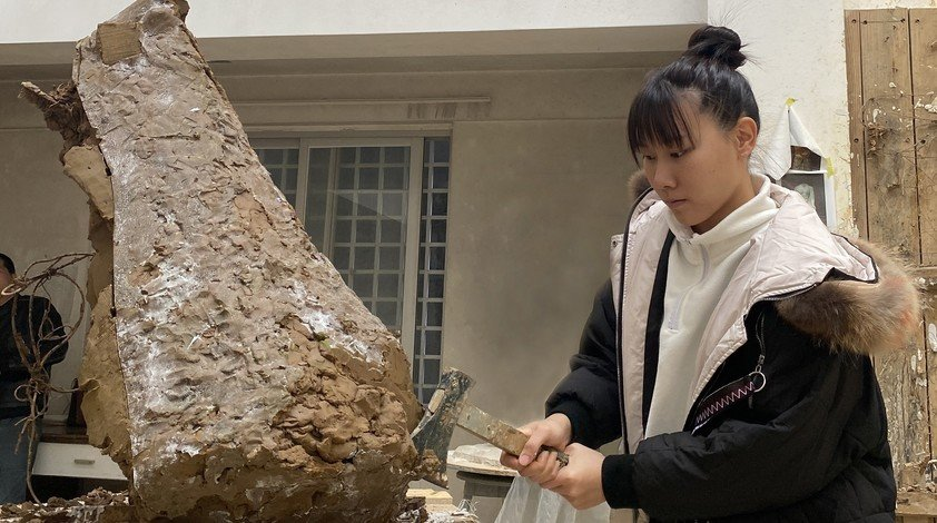 Antonia has been working on her sculpture for the graduation exhibition since a visit to a stone carving factory in mainland China last summer and Christmas holiday.