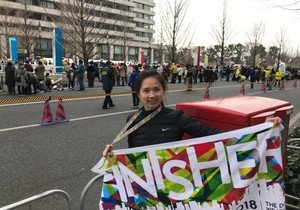 Physical Education lecturer first Hong Kong female to cross international marathon finish line