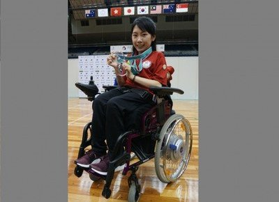 China Studies student wins two gold medals at International Boccia competition