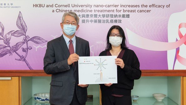 HKBU and Cornell University jointly develop a novel nano-carrier that increases the efficacy of Chinese medicine treatment for breast cancer