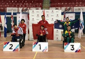 China Studies student wins gold at International Boccia competition
