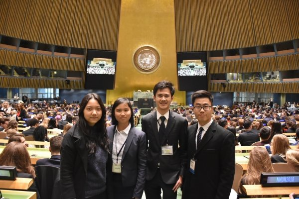HKBU students broaden their vision through taking part in overseas model UN conferences.