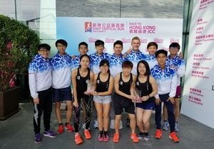 HKBU teams win championship and first runner-up titles in vertical run for charity