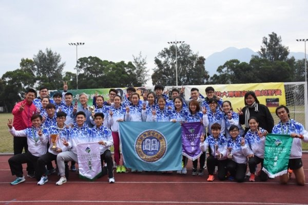 The HKBU teams sweep awards in the University Sports Federation of Hong Kong Cross Country Race
