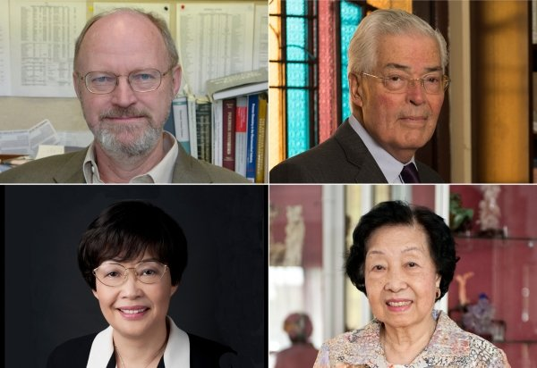 HKBU will confer honorary doctoral degrees on (clockwise from left top): Professor Robert Grubbs, Mr Robert Ho Hung-ngai, Mrs Hung Yeung Pong-wah and Ms Elizabeth Law Kar-shui
