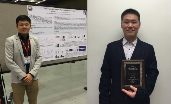 Dr Li Defang (right) and Liu Jin win recognition from the American Society for Bone and Mineral Research for their outstanding research papers
