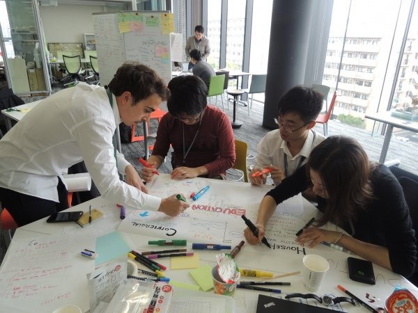 Cross-disciplinary students from Hong Kong and Japan propose ideas to address problems like waste management and energy use.