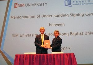HKBU signs agreement with SIM University of Singapore on collaborations enhancing student learning
