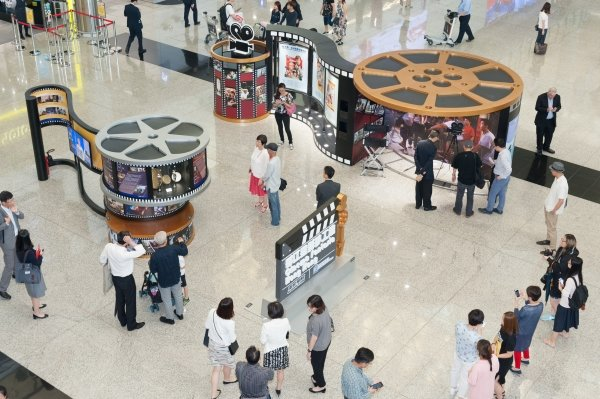 """Cinema Fantasia Hong Kong"" is on show at the Arrivals Hall, Terminal 1 of HKIA from 6 July to 12 November."