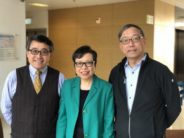 (From left) Mr Tony Lai, Dr Anita Poon and Professor Sandy Li are commissioned by the Education Bureau to conduct a research project to enhance English language teaching and learning in primary schools