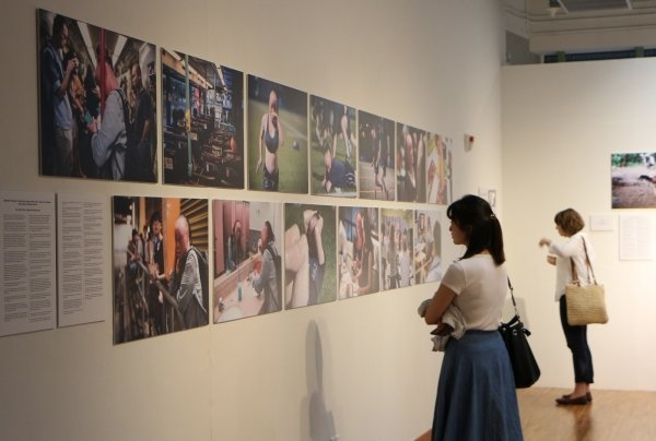 The exhibition showcases SOPA Award-winning images and videos from international news agencies and local media outlets