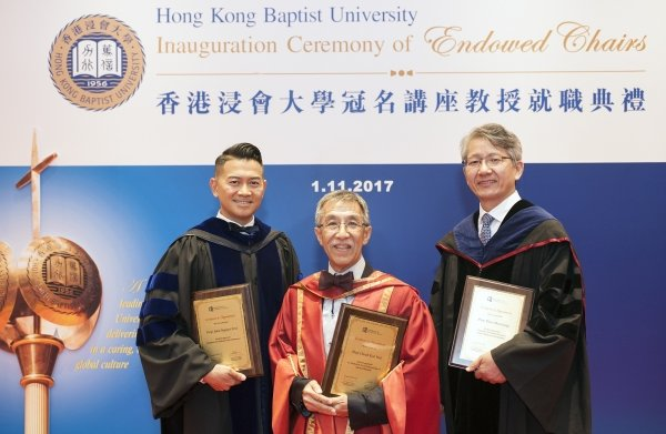 (From left) Professor John Erni, Professor Cheah Kok-wai and Professor Bian Zhaoxiang
