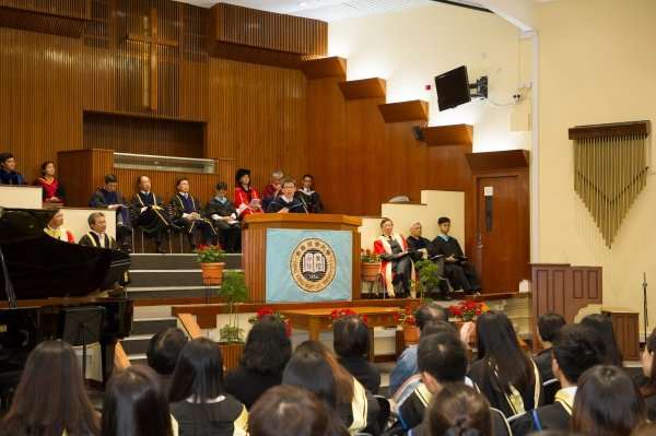 "Dr Andy Chiu shares on the topic of ""Different Generations"" at the Baccalaureate Service"