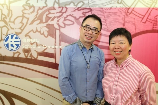 The research team led by Professor Kara Chan (right) and Mr Lennon Tsang reveals that about 70% interviewees find Traditional Chinese medicine effcacious
