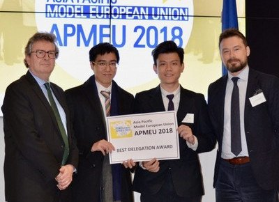 HKBU students win Best Delegation Award in Asia-Pacific Model European Union