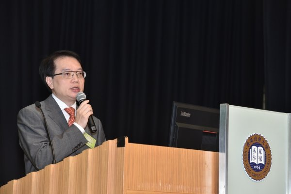 "Dr Cheung Wai-lun gives a talk entitled ""Integrative Medicine – Challenges and Opportunities of Chinese Medicine Hospital"""